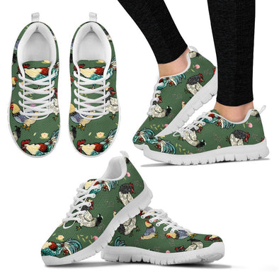 Chicken Rooster Pattern Sneakers  (Green)