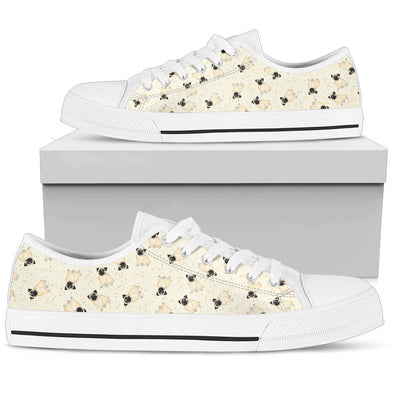 Pug Pattern Low-Top Shoes