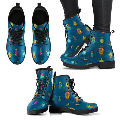 Bugs & Crawlies Pattern Leather Boots