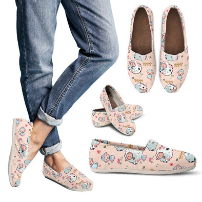 Sheep Pattern Casual  Shoes ( Peach)