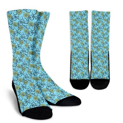 Bicycle Pattern Socks (Blue)