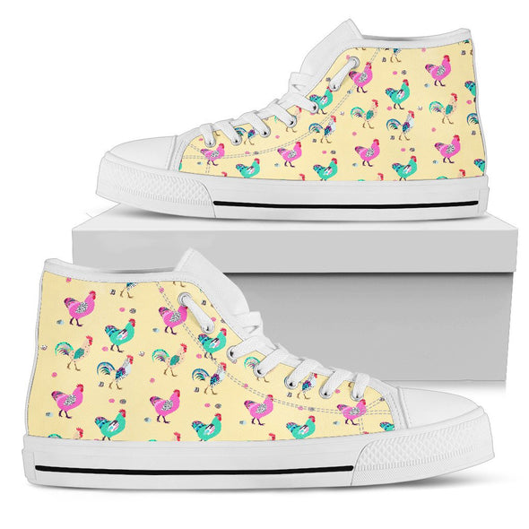 Funky Chicken Pattern High Tops (Yellow)