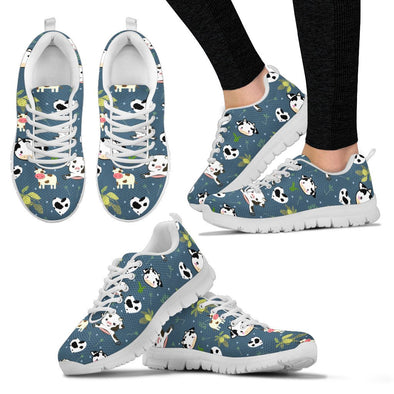 Cow Pattern Sneakers (Dark Teal)