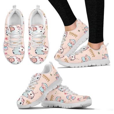 Sheep Pattern Sneakers ( Peach)