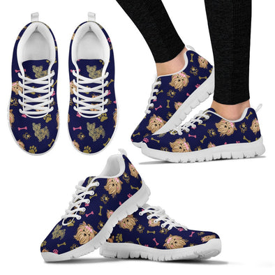 Yorkie Pattern Sneakers (Navy Blue)