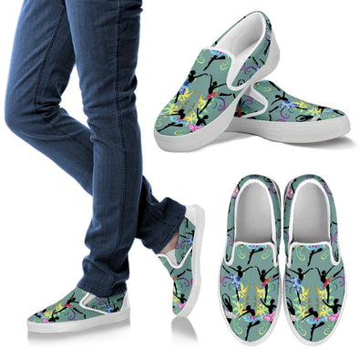 Ballerina Slip Ons Pattern Shoes