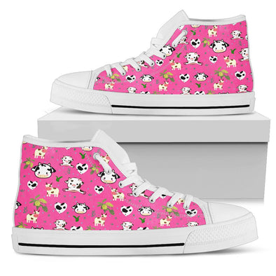 Cow Pattern High Tops (Pink)