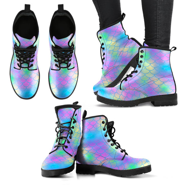 Mermaid Pattern Boots