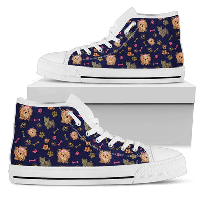 Yorkie Hi-Top Pattern Shoes (Navy Blue)