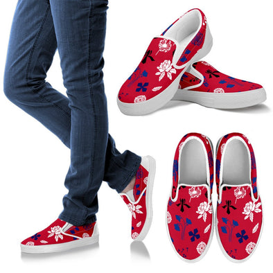 Buffalo Floral Pattern Slip Ons
