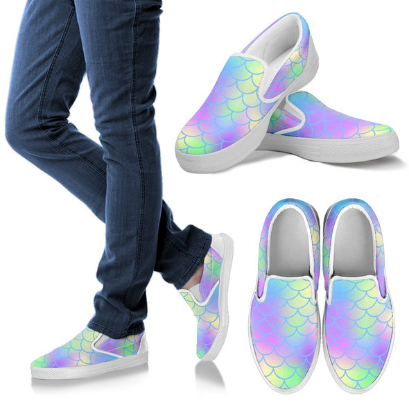 Mermaid Slip Ons Pattern Shoes
