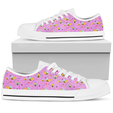 Bee Pattern Low Tops (Violet)
