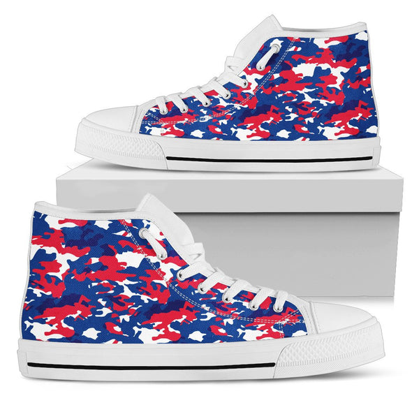 Buffalo Camo Pattern High Tops Shoes