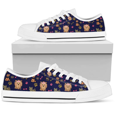 Yorkies Low-Top Pattern Shoes (Navy Blue)