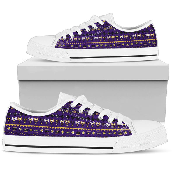 Baltimore Aztec Pattern Low Tops