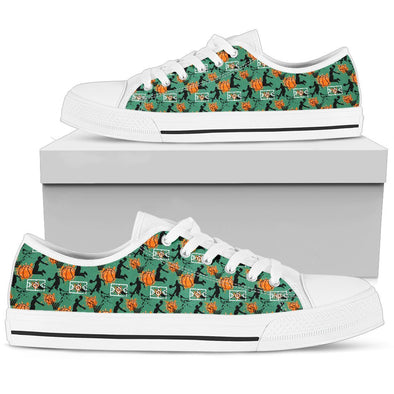 Basketball Low-Top Pattern Shoes (Green)