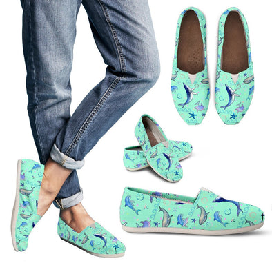 Dolphins Pattern Casual Shoes (Mint)