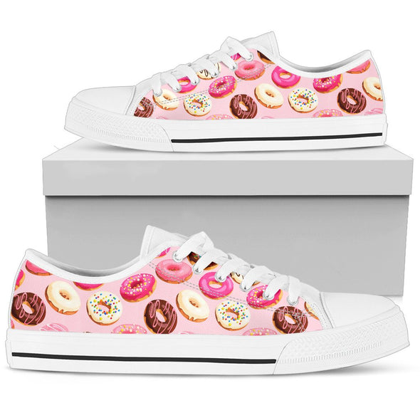 Donuts and Sprinkles Low-Top Pattern Shoes