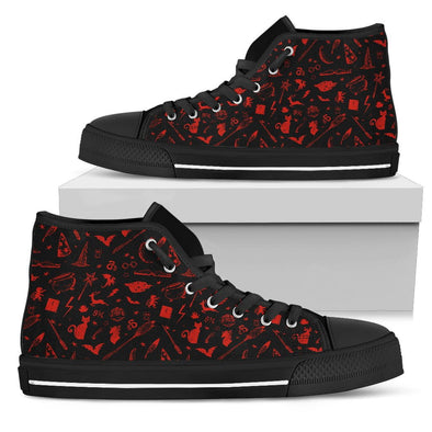 HP Red & Black Icons - HiTops & Low Tops Shoes