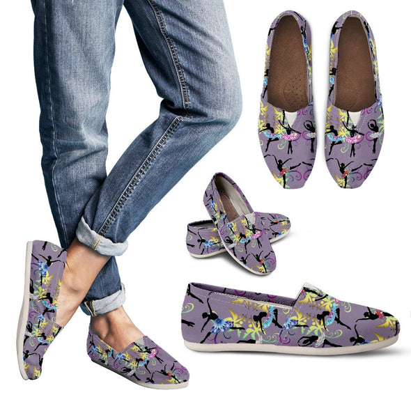 Ballerina Casual Pattern Shoes (Violet)