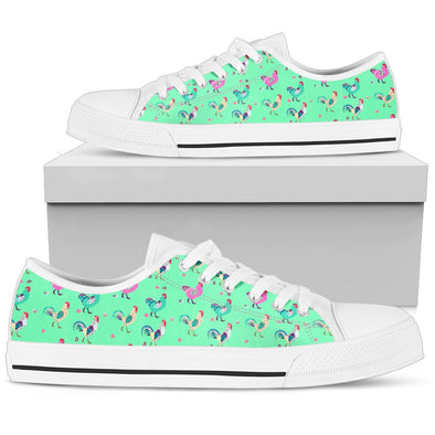 Funky Chicken Pattern Low Tops (Light Green)