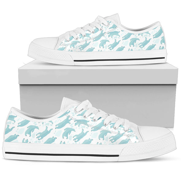 Polar Bear Pattern Low-Top Shoes