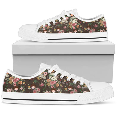 Galaxy and Floral Low-Top Pattern Shoes