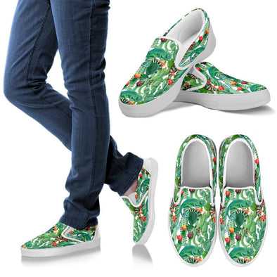Chameleon Pattern Slip Ons Shoes