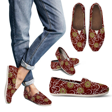 Bicycle Casual Pattern Shoes (Maroon)