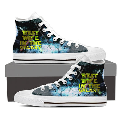 Best Wife In The Galaxy Women's Hi-Tops, Low Tops, & Casual Shoes