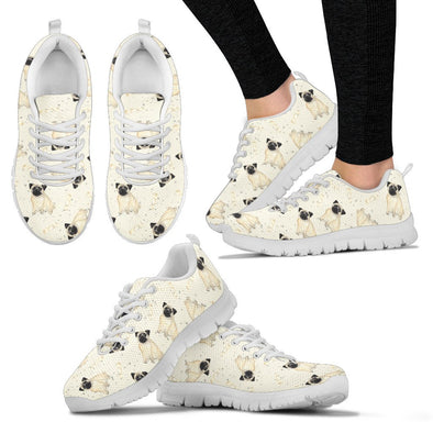 Pug Sneakers Pattern Shoes