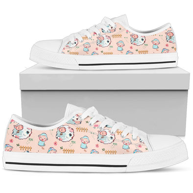 Sheep Pattern Low Tops Shoes ( Peach)