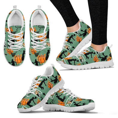 Basketball Pattern Sneakers (Green)