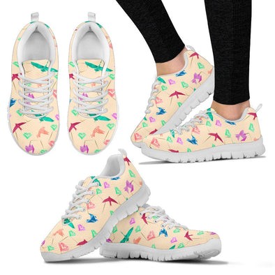 Origami Pattern Sneakers (Cream)