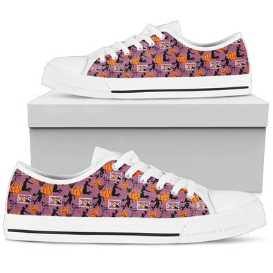 Basketball Low-Top Pattern Shoes (Violet)