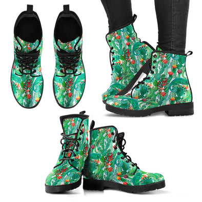 Chameleon Pattern Leather Boots