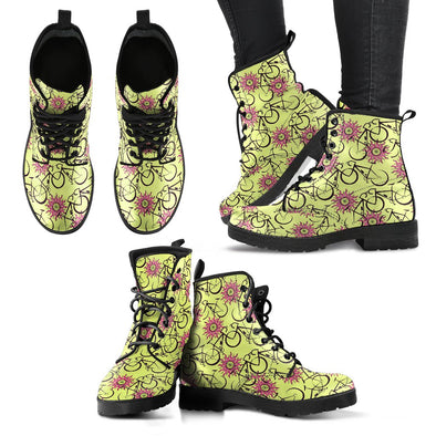 Bicycle Leather Pattern Boots (Yellow)