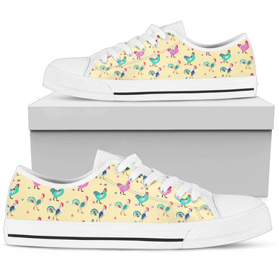 Funky Chicken Pattern Low Tops (Yellow)