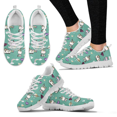 Unicorn Pattern Sneakers (Teal)