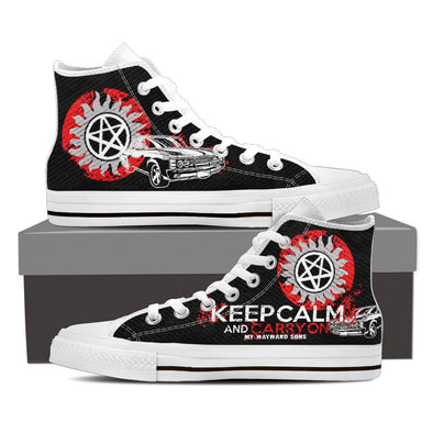 Keep Calm And Carry On My Wayward Son Hi-Tops, Low Tops & Casual Shoes