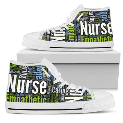 Nurse Wordcloud Pattern Shoes - Nurse Sneakers
