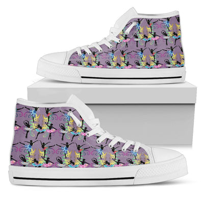 Ballerina Hi-Tops Pattern Shoes (Violet)