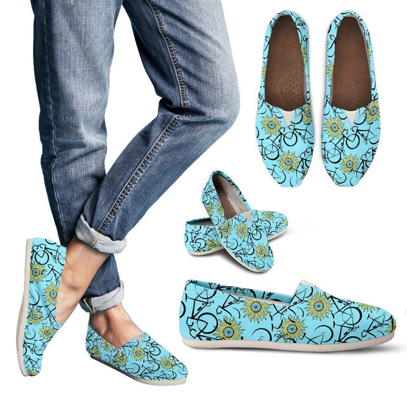 Bicycle Casual Pattern Shoes (Blue)
