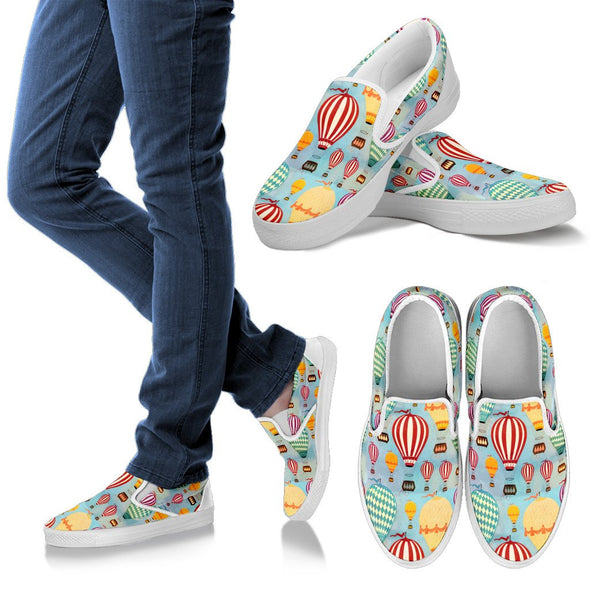 Hot Air Balloon Slip Ons Pattern Shoes