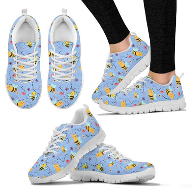 Bee Pattern Sneakers (Blue)