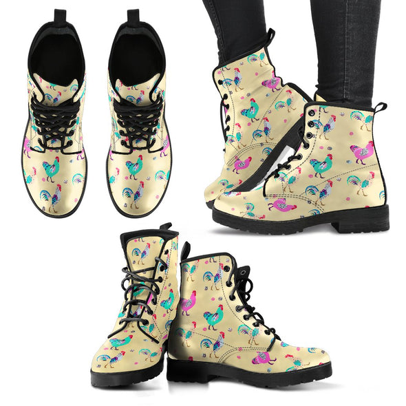 Funky Chicken Leather Boots (Yellow)