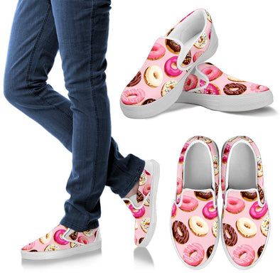 Donuts and Sprinkles Pattern Slip Ons Shoes