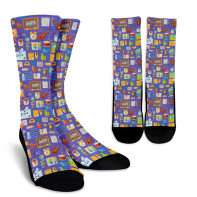 Teacher Pattern Socks