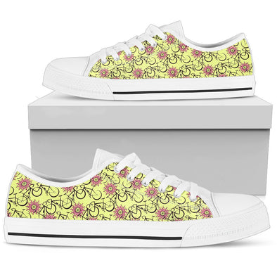Bicycle Low-Top Pattern Shoes (Yellow)