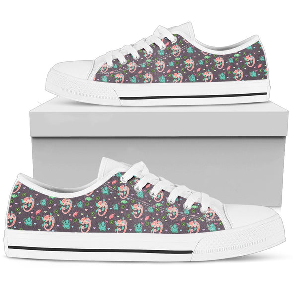 Chameleon Violet Low-Top Pattern Shoes